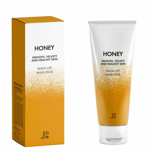 Honey Smooth Velvety and Healthy Skin Wash Off Mask Pack