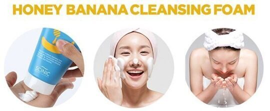 Honey banana cleansing foam